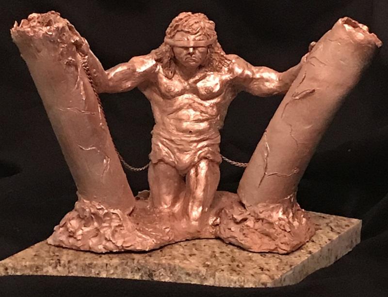 Samson Biblical Sculpture by Shery Heller Fine Artist